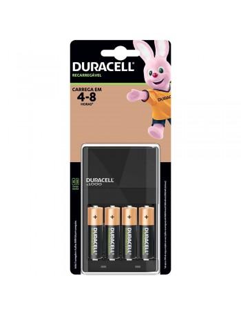 Carregador de pilhas Duracell com 4 pilhas AA 2500mAh CEF14BR4