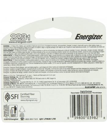 Pilha Energizer Lithium 223 (CR-P2) 6V