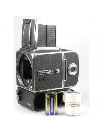 Câmera analógica médio-formato Hasselblad 500EL/M - USADA