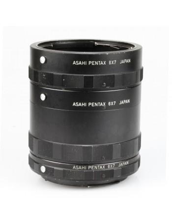 Kit de tubos extensores Asahi Pentax 6x7 com 3 peças - USADOS