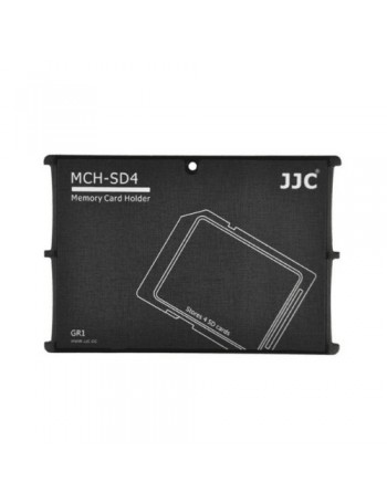 Estojo JJC MCH-SD4GR para cartão de memória - acomoda 4 cartões SD