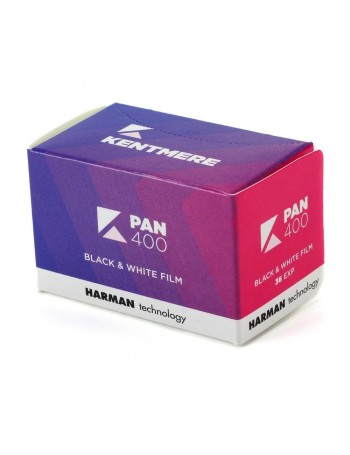 Filme fotográfico 35mm Kentmere Pan ISO 400 Preto e Branco 36 poses (REBOBINADO)