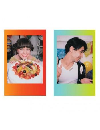 Filme instantâneo com bordas coloridas Fujifilm instax mini Rainbow (10 fotos)