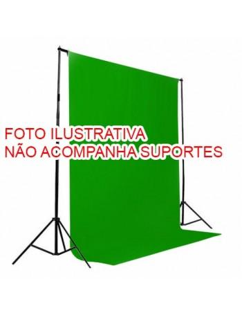 Fundo infinito de tecido Greika para vídeo e fotografia em estúdio - 3x5 metros (VERDE CROMAKEY)
