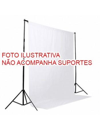 Fundo infinito de tecido Greika para vídeo e fotografia em estúdio - 3x5 metros (BRANCO)