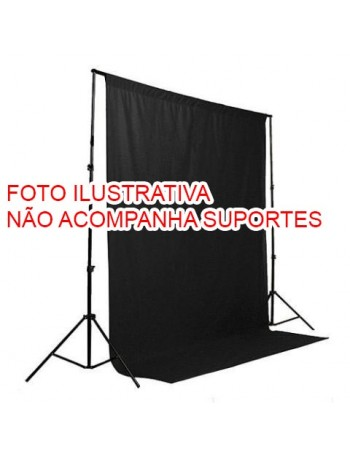 Fundo infinito de tecido Greika FV0001-1016 para vídeo e fotografia em estúdio - 3x5 metros (PRETO)