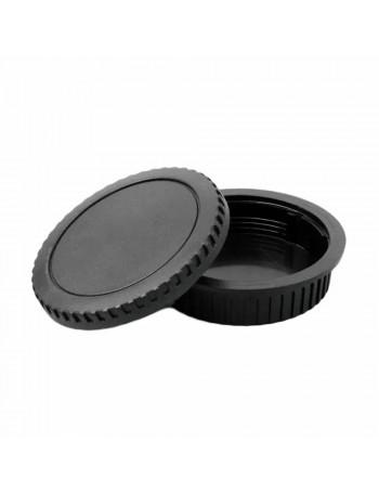 Kit com tampas de proteção (traseira da lente + corpo da câmera) Greika RBC02 para sistema Canon EOS EF/EF-S