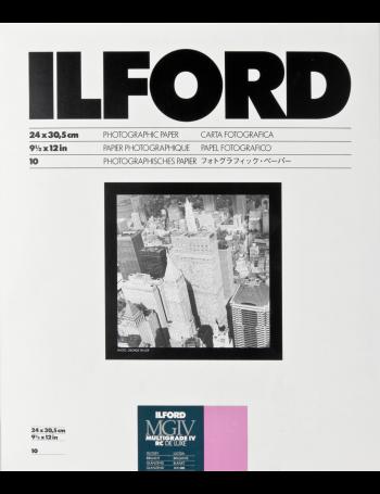 Papel Fotográfico Preto e Branco Ilford Multigrade IV RC Deluxe 24x30cm - 10 folhas (Brilhante)