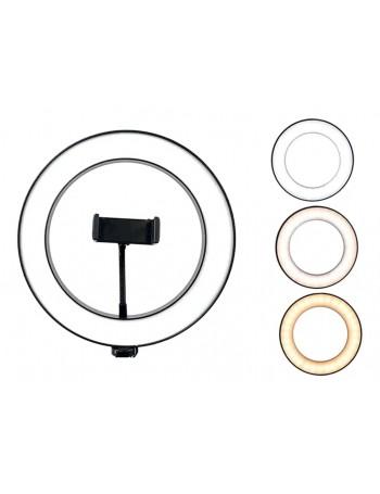 Iluminador de LED circular Ring Fill Light 26CM com suporte para smartphone