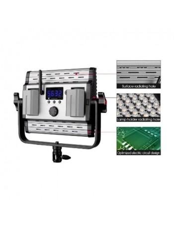 Iluminador de LED Greika HS 600MB PRO com bateria e fonte