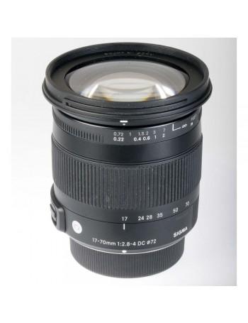 Objetiva Sigma 17-70mm f2.8-4 DC Macro OS HSM Contemporary para Nikon - USADA