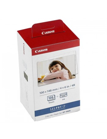 Papel Fotográfico Canon KP-108IN para impressoras SELPHY (108 folhas)