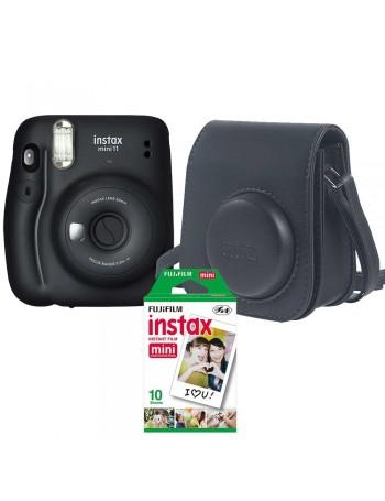 Kit câmera Instantânea Fujifilm instax mini 11 GRAFITE + bolsa + filme com 10 fotos