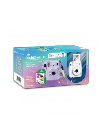 Kit câmera Instantânea Fujifilm instax mini 11 BRANCA + estojo + filme com 10 fotos
