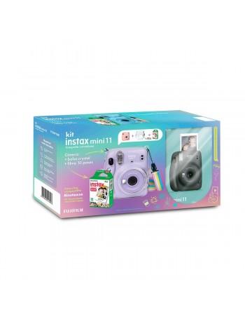 Kit câmera Instantânea Fujifilm instax mini 11 GRAFITE + estojo + filme com 10 fotos