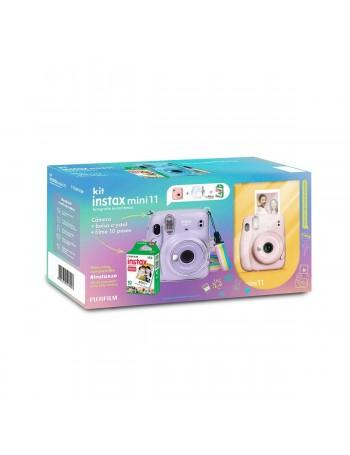 Kit câmera Instantânea Fujifilm instax mini 11 ROSA + estojo + filme com 10 fotos