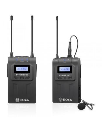 Microfone de lapela sem fio Boya BY-WM8 Pro-K1 UHF Dual Channel