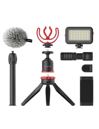 Kit de acessórios Boya BY-VG350 para gravação de vídeo em smartphone
