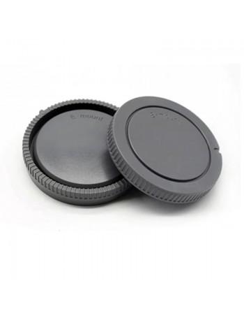 Kit com tampas de proteção (traseira da lente + corpo da câmera) para sistema Sony E