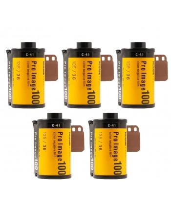 Filme fotográfico 35mm Kodak Pro Image ISO 100 Colorido 36 poses (caixa com 5 unidades)