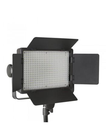 Iluminador de LED profissional Godox LED500C Bi-Color com controle remoto e fonte