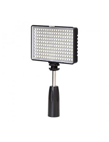 Iluminador de LED Greika TL-180S com suporte de mão e bateria recarregável