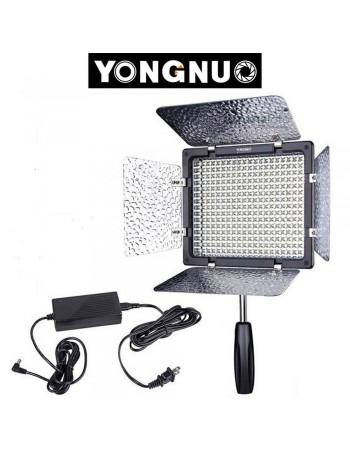 Iluminador de LED Yongnuo YN1200 + Fonte de alimentação