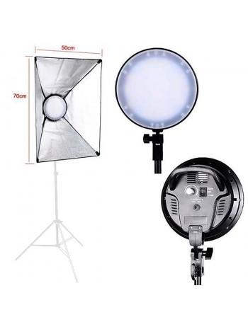 Iluminador LED Greika LedMax 45 com softbox 50x70cm