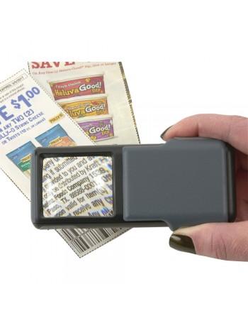 Lupa de bolso Carson MiniBrite PO-55 com LED e ampliação de 5x
