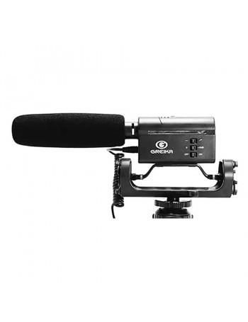 Microfone Greika GK-SM10 com montagem em sapata de câmera