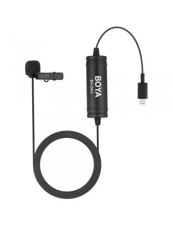Microfone de lapela Boya BY-DM1 para iPhone e iPad