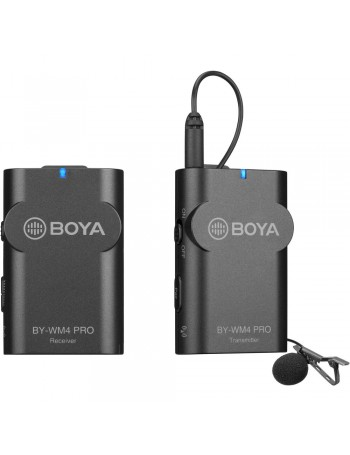 Microfone de lapela sem fio Boya BY-WM4 PRO (2.4 GHz)