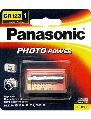 Pilha Panasonic Lithium CR123 3V