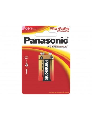 Pilha alcalina 9V Panasonic Power Alkaline (6LF22XAB/1B)