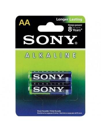 Pilha alcalina Sony AA 1.5V - cartela com 2 unidades