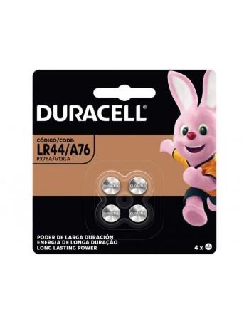Pilha alcalina LR44 1.5V Duracell - cartela com 4 unidades