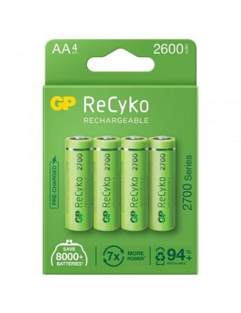 Pilha AA recarregável GP ReCyko 2700mAh - cartela com 4 unidades
