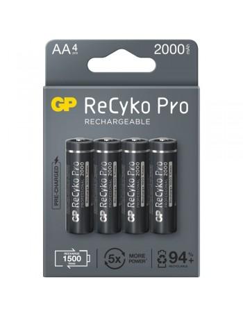 Pilha AA recarregável GP ReCyko Pro 2000mAh - cartela com 4 unidades