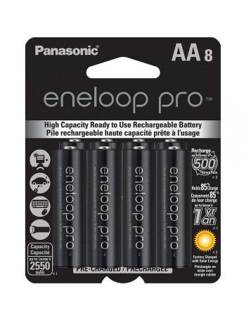 Pilha AA recarregável Panasonic Eneloop Pro 2550mAh - cartela com 8 unidades