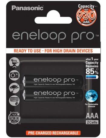 Pilha AAA recarregável Panasonic Eneloop Pro 950mAh - cartela com 2 unidades