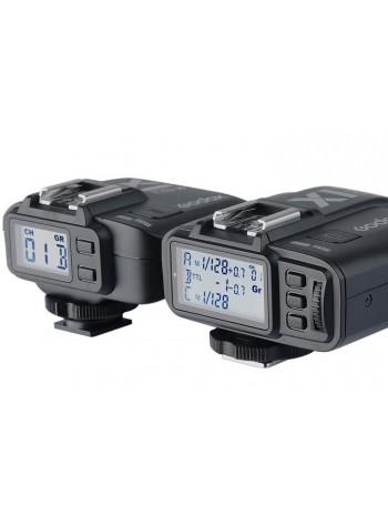Radio Flash TTL Godox X1C TTL para Canon - Kit com receptor e transmissor
