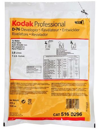Revelador em pó Kodak D-76 para filme em preto e branco - 415g (rende 3,8 litros) (VENCIDO EM 09/2021)