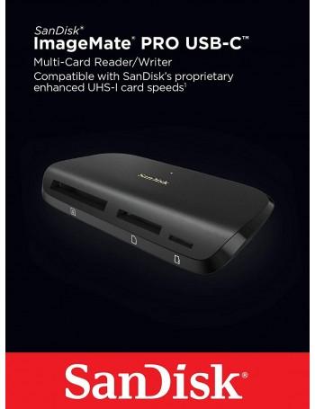 Leitor de cartão de memória microSD, SD e CF SanDisk ImageMate PRO USB-C
