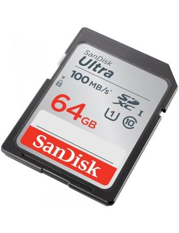 Cartão SDXC Sandisk UHS-I Ultra 64GB - 100MB/s