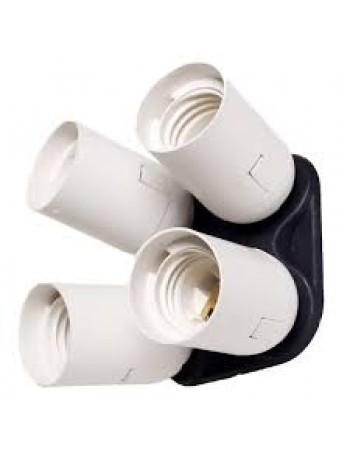 Soquete quádruplo Greika YL-108 para lâmpada E27