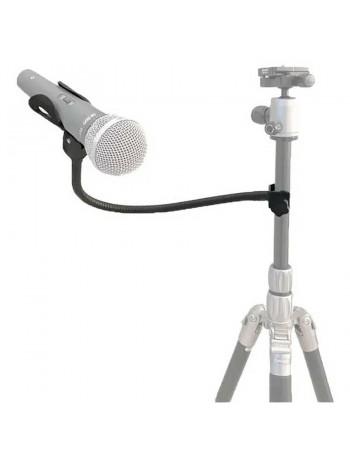 Suporte para microfone Greika MH-01 com braço articulado e garra de fixação