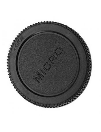 Tampa de proteção traseira para lente micro 4/3