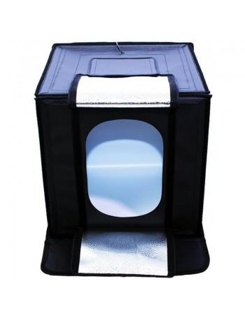 Kit de tenda portátil com fundo infinito e iluminação Greika LED-440 40x40x40cm (110V)