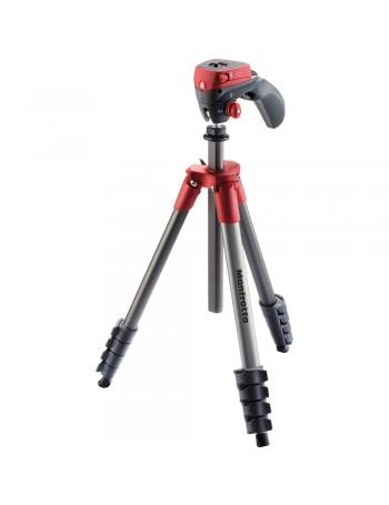 Tripé Manfrotto Compact Action com cabeça joystick para foto e vídeo (MKCOMPACTACN-RD) (VERMELHO)