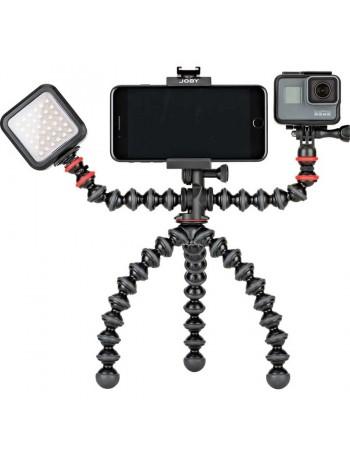 Tripé de mesa flexível com suportes Joby GorillaPod Mobile Rig JB01533-BWW para Smartphone